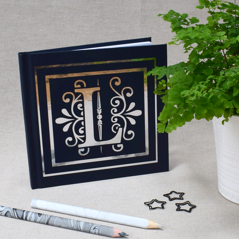 Personalised foil notebook