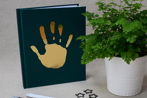 Personalised Handprint notebook