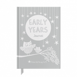 Early Years: Grey baby to five years record journal & notebook