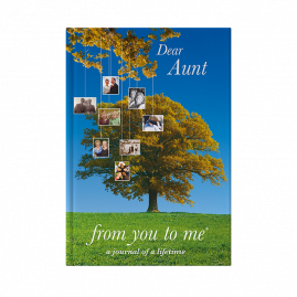 Dear Aunt memory book tree cover by from you to me