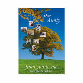Dear Aunty memory book tree cover by from you to me