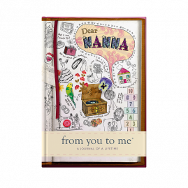 nanna memory journal sketch cover by from you to me