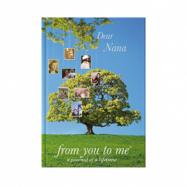 Nana memory book front cover tree by from you to me