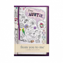 guided memory journal for Auntie sketch by from you to me