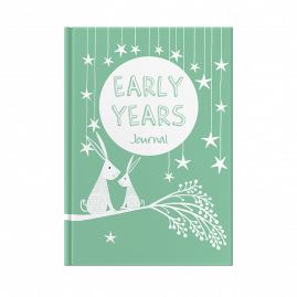 Green Early Years - first years baby book memory journal for solo mum by from you to me