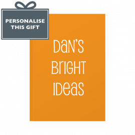 Personalised Bright Ideas Notebook orange Cover