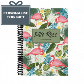 Personalised Flamingo Combined Diary & Notebook - Cream